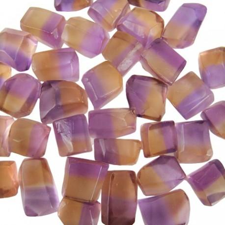 Bicolor Ametrine 2 to 5 gram pieces. Light Color (C)